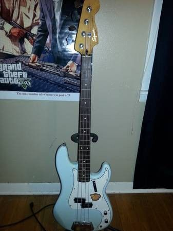 Fender squire classic vibe bass guitar + line 6 amp - $250
