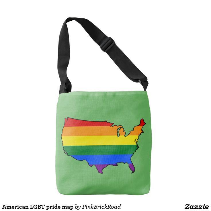 American LGBT pride map Tote Bag