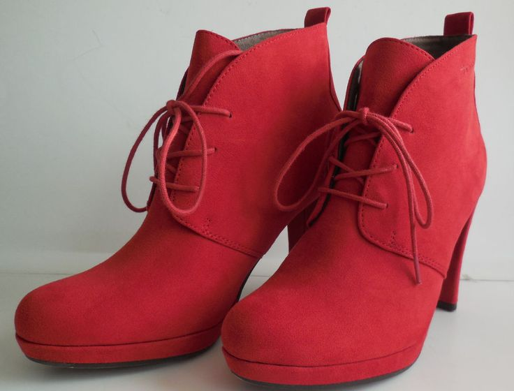 Ankle Boots Schnürboots Tamaris Gr.38 rot
