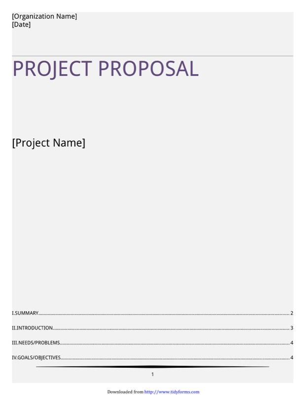 6 Project Proposal Template Free Templates In Doc Ppt Pdf