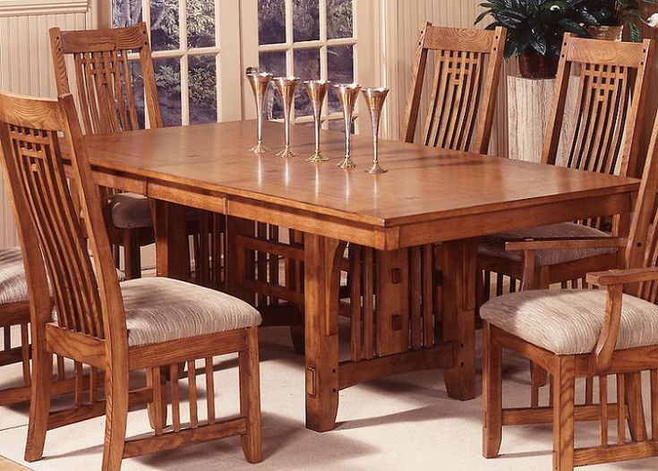 Santa Rosa Mission Style Trestle Dining Room Furniture Set by ...