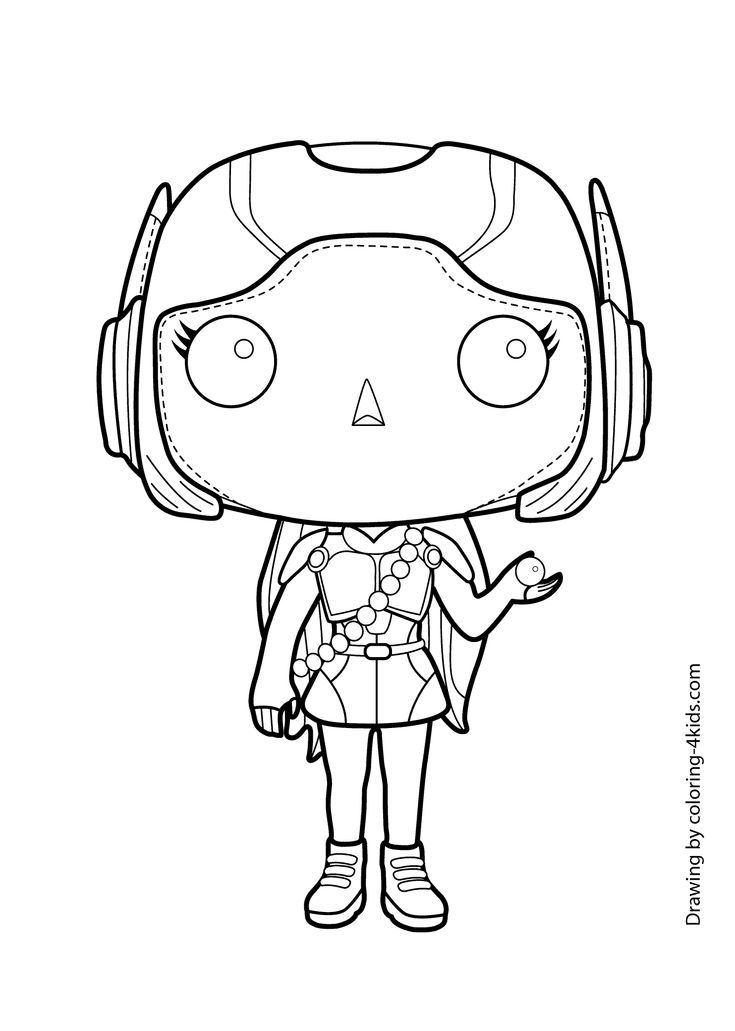 Honey Lemon Hero Girl Coloring Page For Kids, Printable