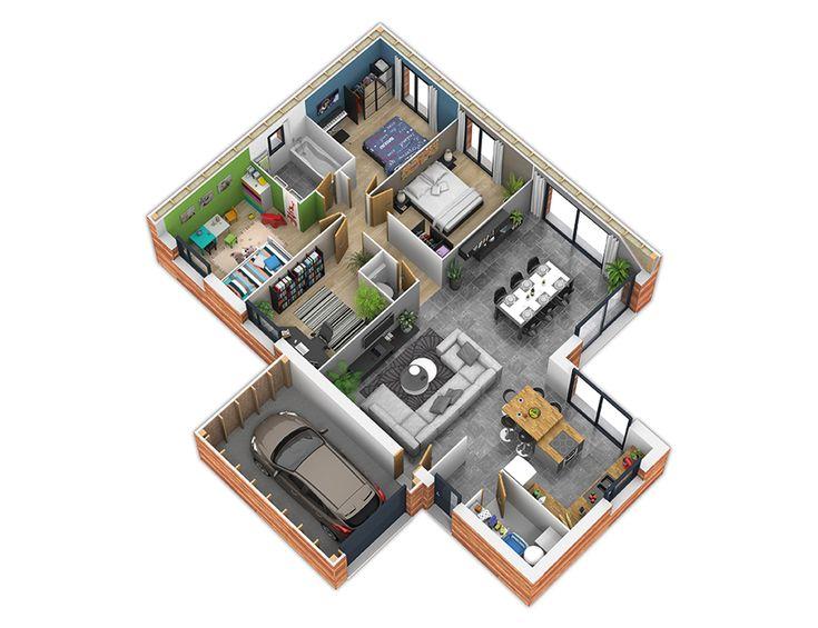 1000 ideas about plan maison ossature bois on pinterest for Plans de maison