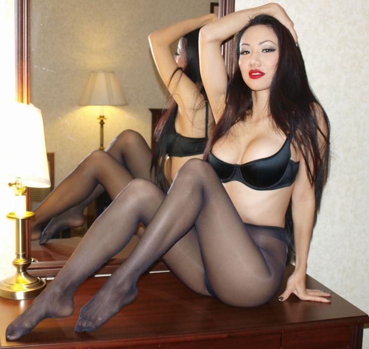 Asian girls in nylon