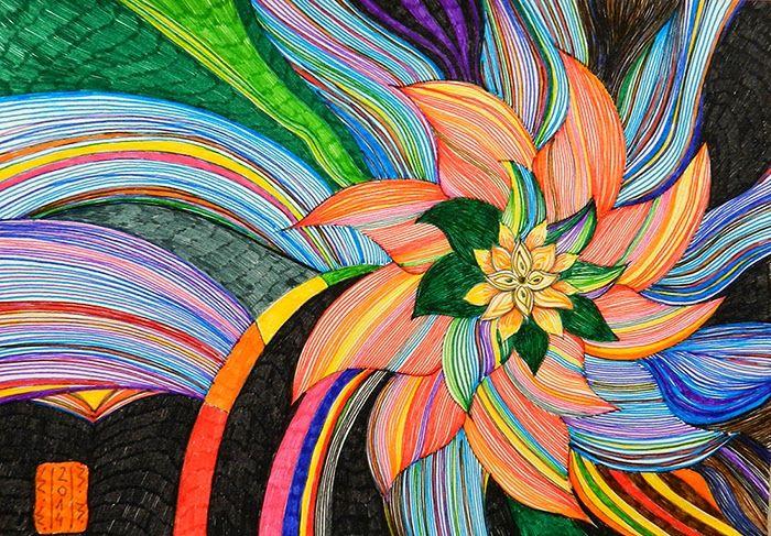 Dekoratiuni: Tablou Flori abstracte 01