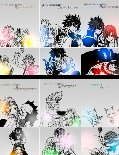 Nalu gruvia jerza gale elfgreen happy and charle for Portent fairy tail