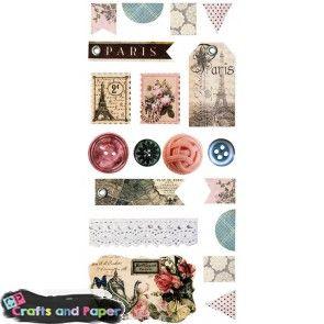 crafts-and-paper-ΕΤΙΚΕΤΑ-ΑΥΤΟΚΟΛΛΗΤΗ-ΧΑΡΤ.-VΙΝΤΑGΕ-ΡΑRΙS[19Τ]