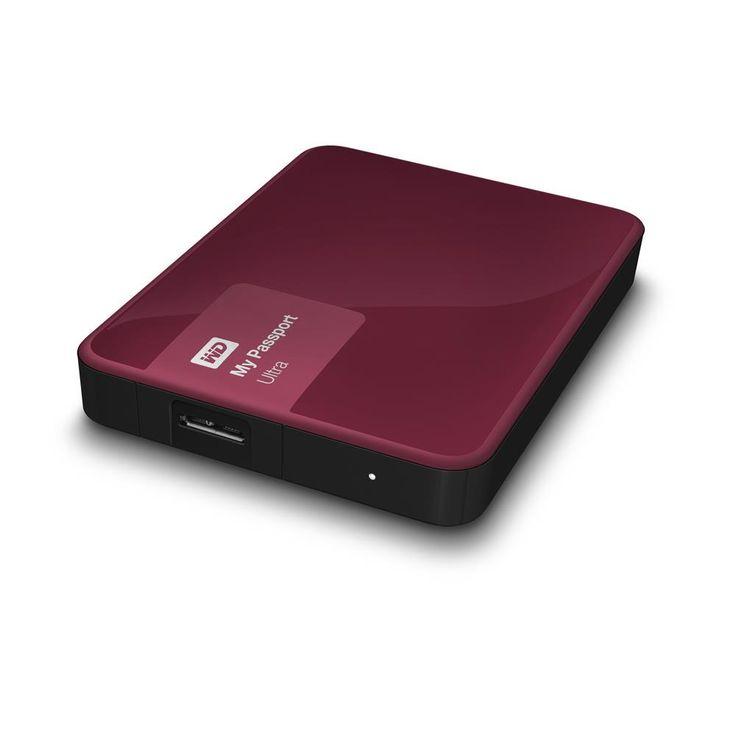 Portabel hårddisk. 2TB Lagringsutrymme. USB 3.0