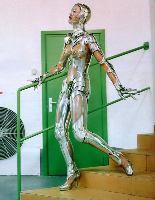 Thierry Mugler as seen by Helmut Newton for Vogue US ('Machine Age'), November 1995.