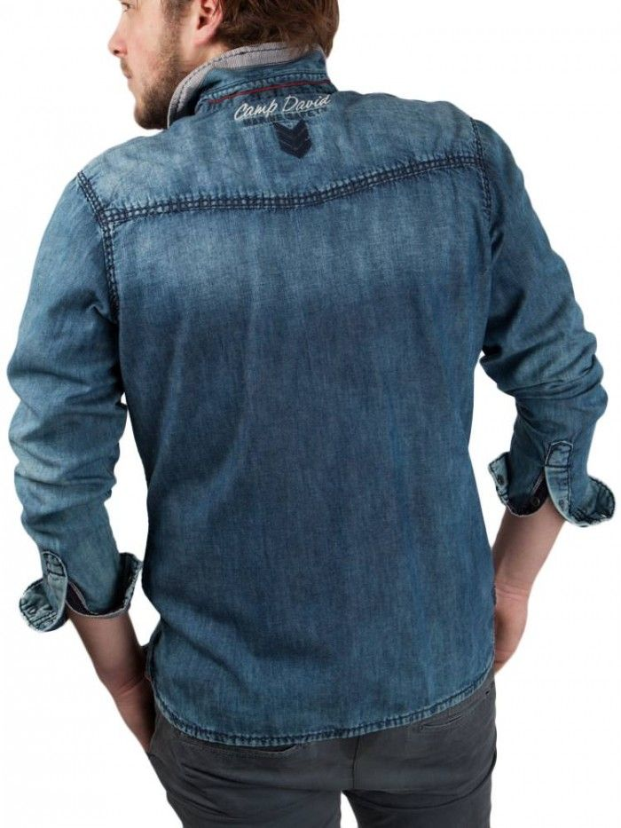 Camp David ® Jeans Shirt with washing