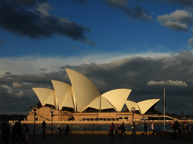 The Grand Dame of Circular Quay. Sydney Opera House in the afternoon Light