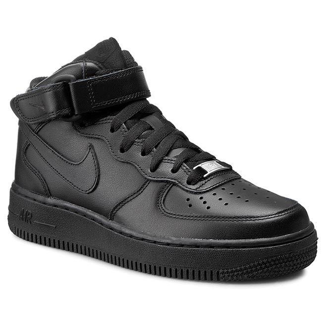 Pantofi NIKE - Air Force 1 Mid '07 LE 366731 001 Black/Black