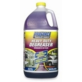 The best grease remover on earth!  Just spray it on a sponge and wipe.   I had grease build up on the outside of my overhead microwave.  I just wiped my microwave with a sponge that I sprayed Proforce degreaser on and the grease was all gone!