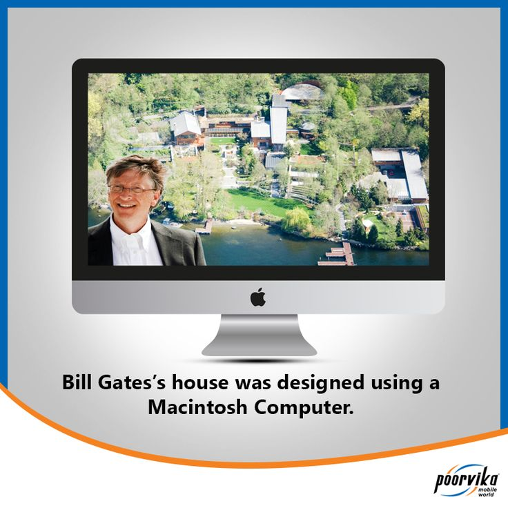 How many of you know that #Microsoft founder Bill Gates's house was designed using a #Macintosh Computer.