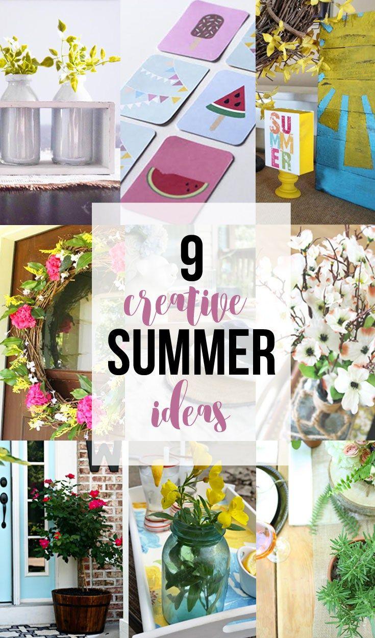 Simple summer farmhouse centerpiece ideas