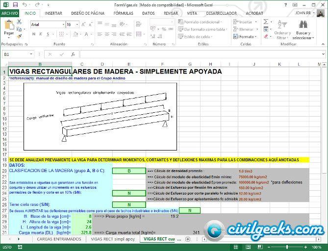 Hoja Excel para el Cálculo Estructural de Escaleras | Calculo de ...