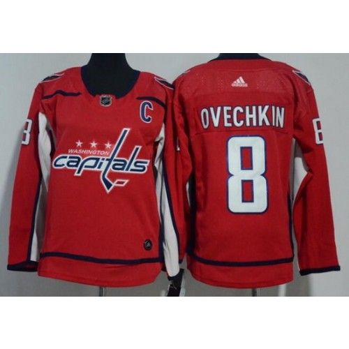 buy popular 5a20f c85ec Youth Washington Capitals #8 Alex Ovechkin Red Adidas Jersey ...