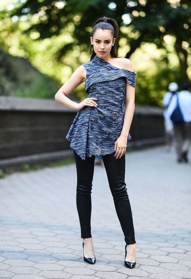 Sofia Carson is seen on the streets of New York
