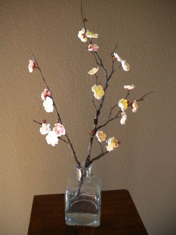 Designer Faux Plant Cherry Blossom in Clear by D2DStudioshowroom, $50.00