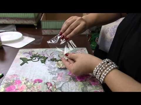 Mulher.com 13/12/2013 Marisa Magalhães - Caixa com decoupage Parte 2/2 - YouTube