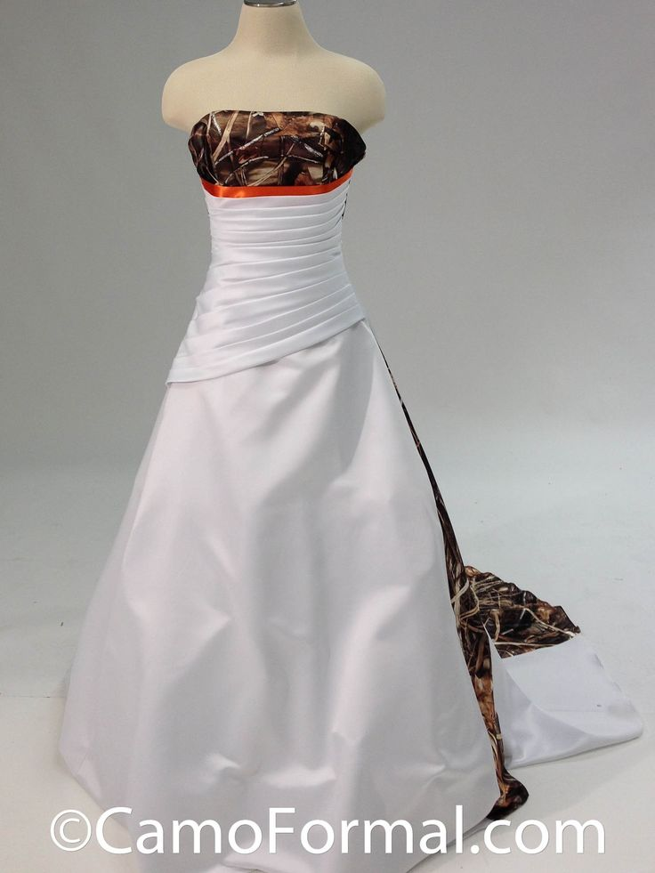 Carrie 3137 available all camo prints rustic wedding for Camo accented wedding dresses