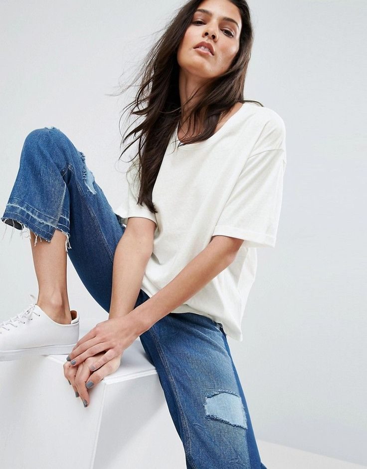ASOS T-Shirt In Linen Mix Fabric - White