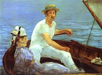 Клод Моне.В лодке, 1874