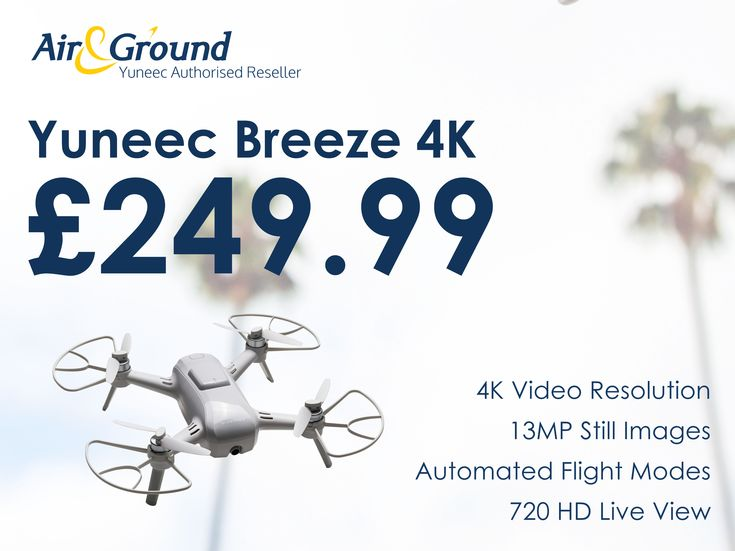 The Yuneec Breeze 4K would make the perfect Christmas gift... and won't break the bank either at this magnificent price. Grab yours now while stocks last at⌨️  https://www.ebay.co.uk/itm/332419098634?utm_content=buffer130b0&utm_medium=social&utm_source=pinterest.com&utm_campaign=buffer … … or contact the team at sales@airandground.com
