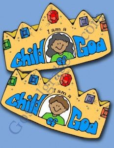 CHILD OF GOD: Primary Nursery Lesson 1, I Am a Child of God, Sunday Savers book or CD-ROM, gospelgrabbag.com, Primary Lesson Helps, Behold Y...