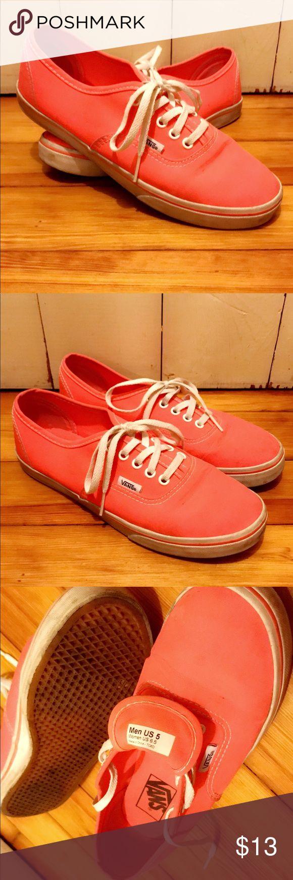 Coral Vans Tennis Shoes Men's size 5, Women's size 6.5 Vans Shoes Sneakers