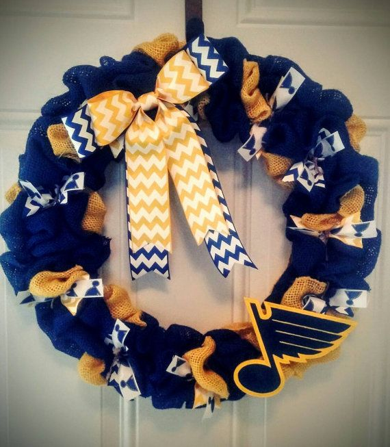 Check out this item in my Etsy shop https://www.etsy.com/listing/272708960/st-louis-blues-wreath