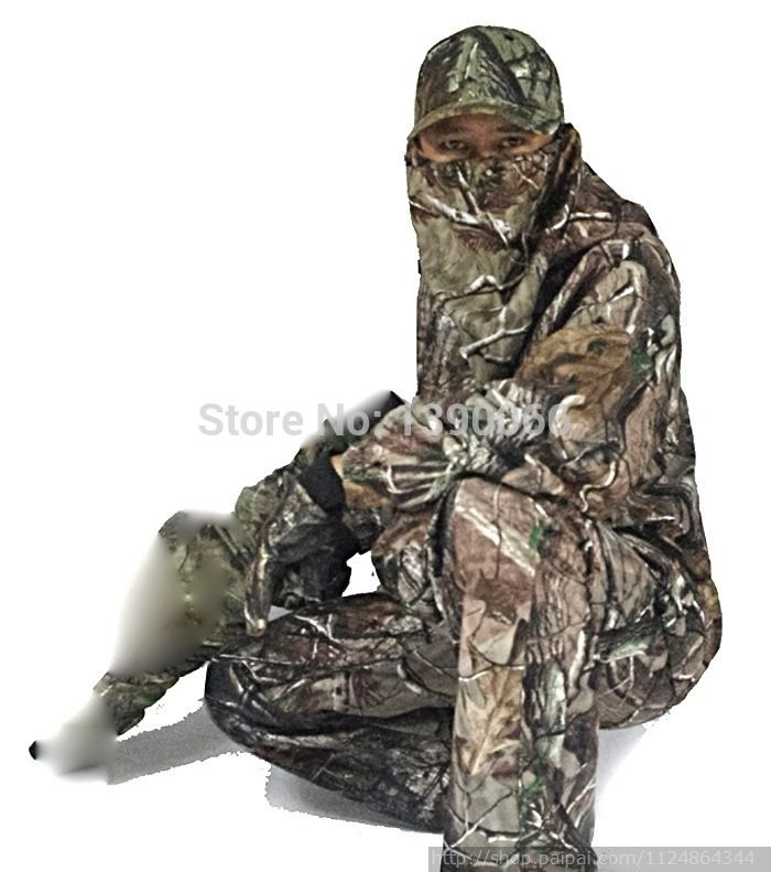Sniper tactical Waterproof Camouflage clothing Hunting clothes Jacket and Pants woodland ghillie suit for camping hiking