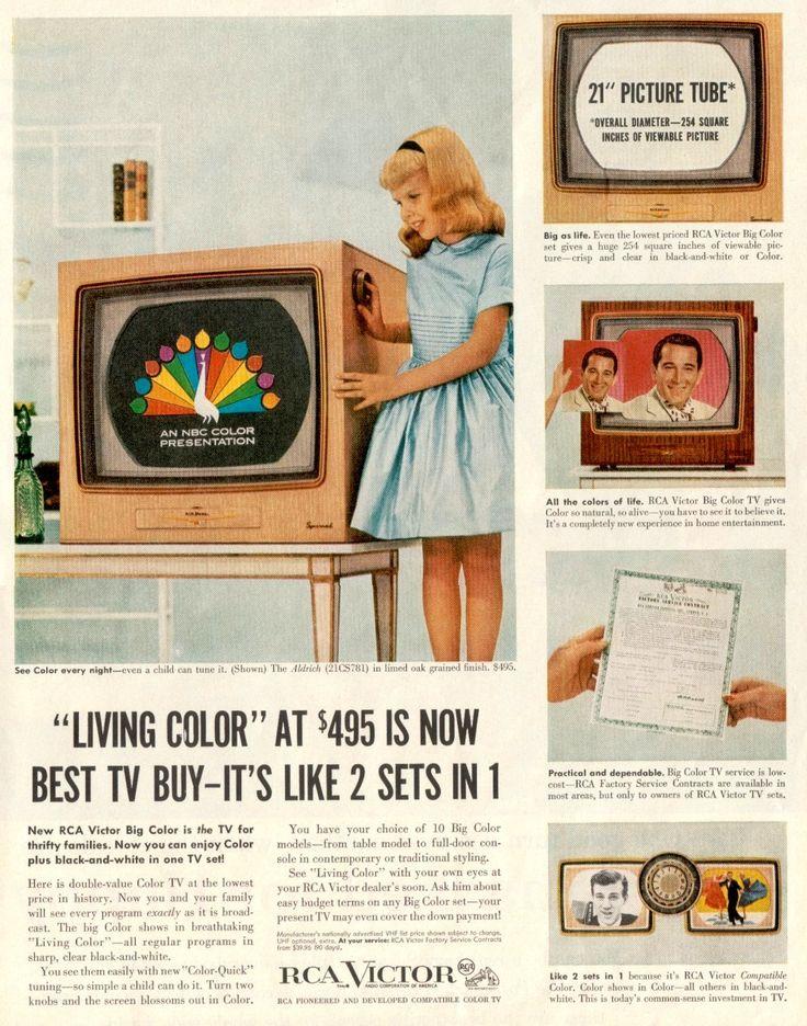 1951 colour tv introduced 1950 1959