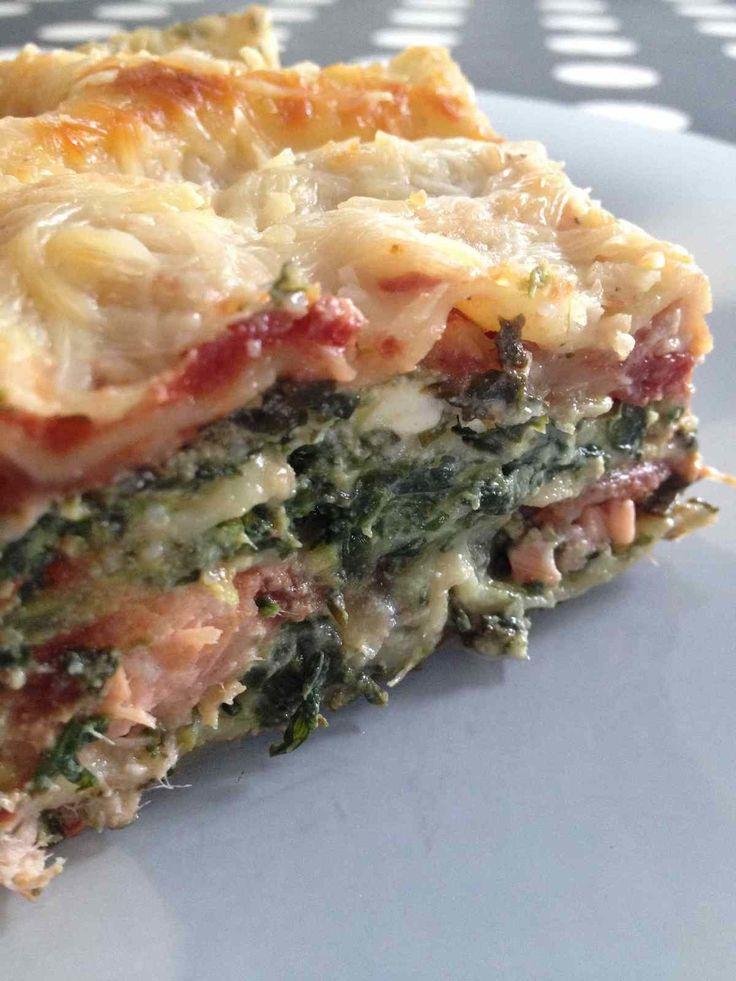 Lasagnes épinard, ricotta et saumon