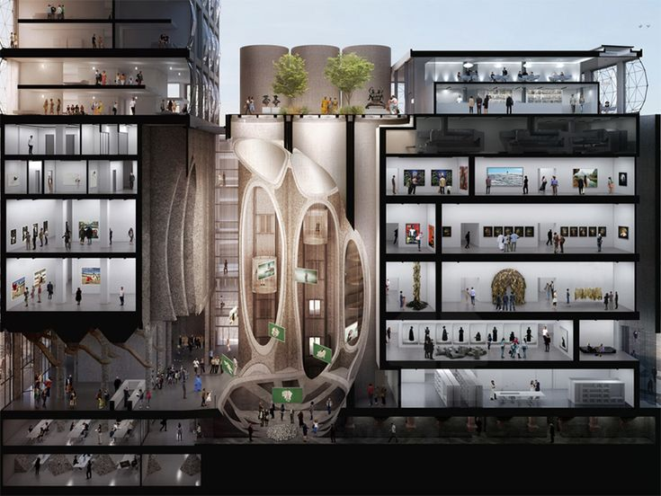 Zeitz MOCAA Gallery // Transforming the Waterfront into Africa's largest contemporary art gallery- Zeitz Museum of Contemporary Art African (Zeitz MOCAA).  Photo: courtesy of Heatherwick Studio