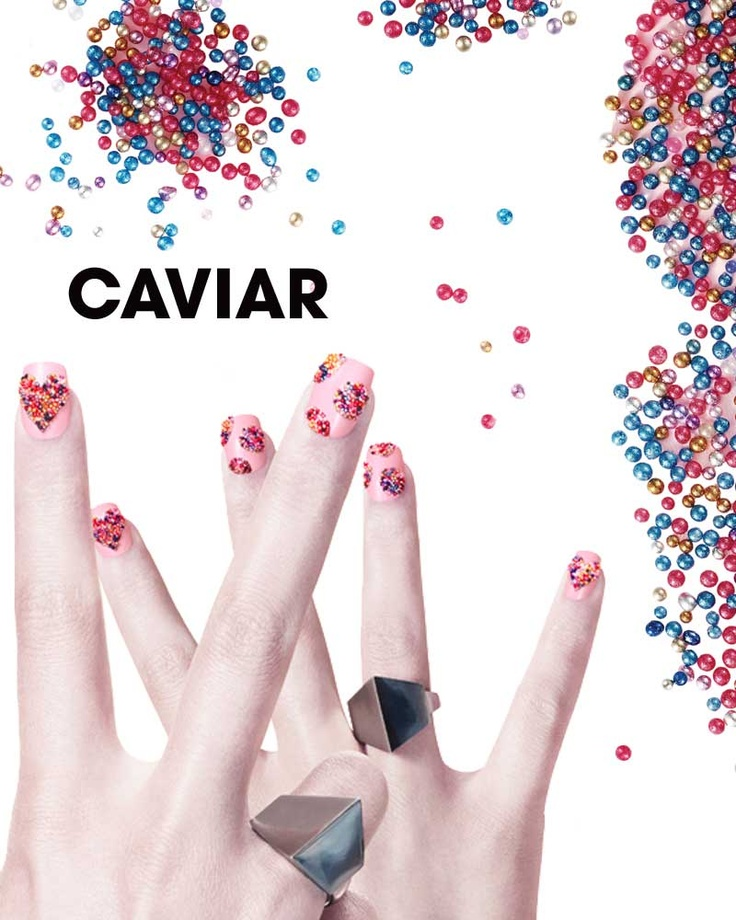 24 best Caviar nail art images on Pinterest | Caviar nails, Gel ...