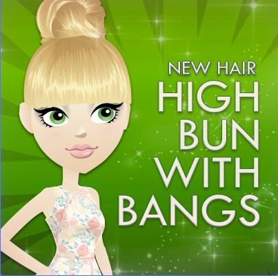 New Hairstyle- High Bun with Bangs! We think it's the perfect 'do, REPIN if you think so too!