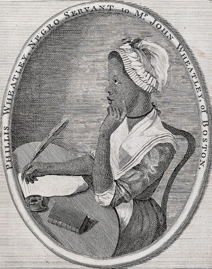 Phyllis Wheatley, first African-American woman to publish her writing 1773.