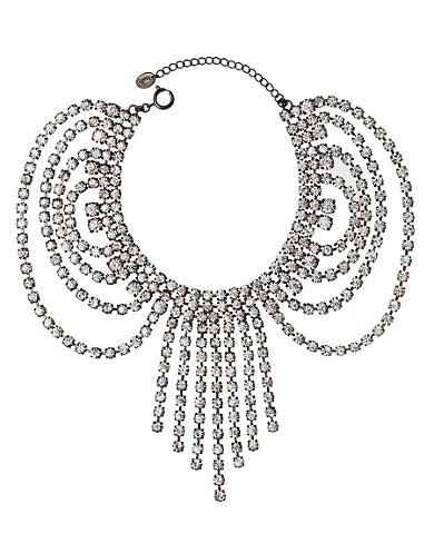 Rhinestone Fringe Necklace #glitterinjuicy #givemewhatIwant