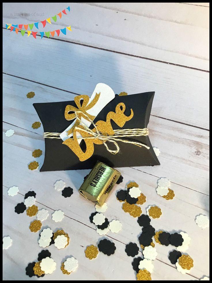High School Graduation Decorations ~ Graduation Party Supplies ~ 2019 Graduation Favors ~ Pillow Box Favors