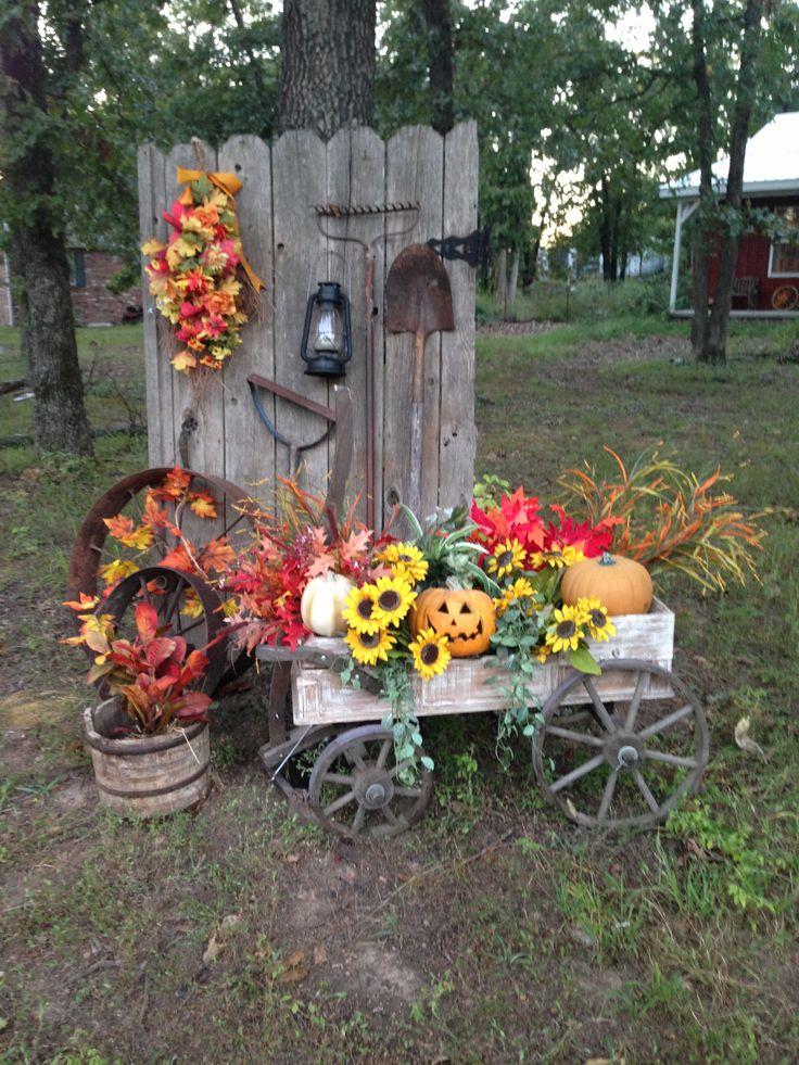 1000 ideas about Fall Wagon Decor on Pinterest
