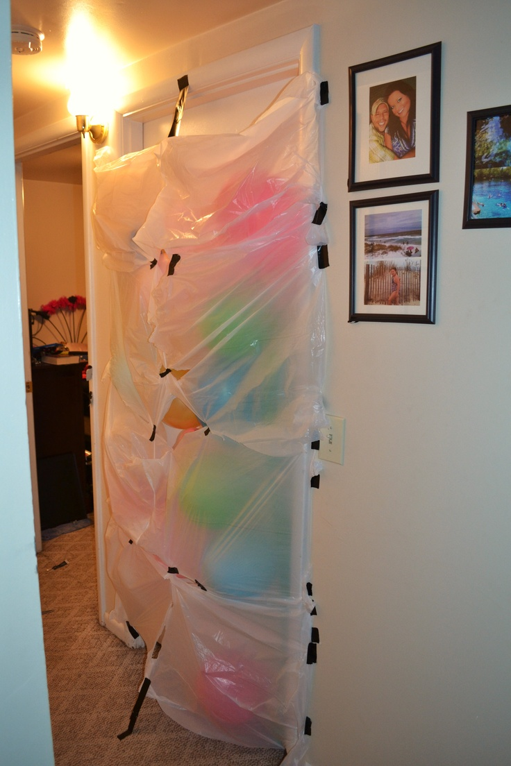 Birthday morning balloon avalanche!!  When they get a little older!