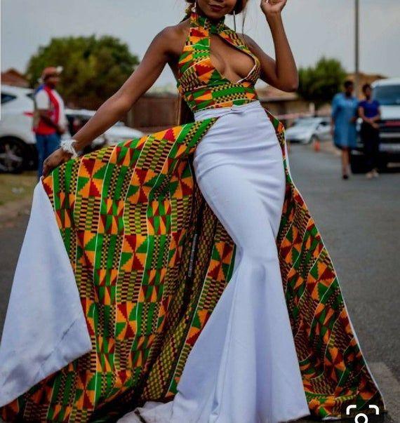 African women clothing Ankara dress bespoke dashiki dress Dashiki prom dress African women/'s dress