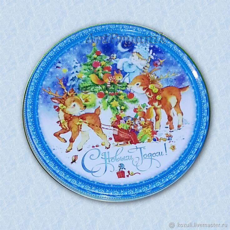 Купить Детский набор козуль Зверушки и птички в гостях у Шарика, экопряники, имбирное печенье