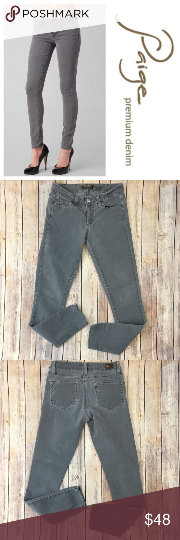 """Paige Premium Denim Verdugo Jegging Skinny 27 Gray Tag Size - 27 Waist Measured Across - 14"""" Inseam - 29"""" Rise - 7.5"""" Great used condition! Always open to reasonable offers. Paige Jeans Jeans Skinny"""