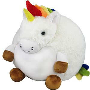 Squishable Rainbow Unicorn An Adorable Fuzzy Plush To