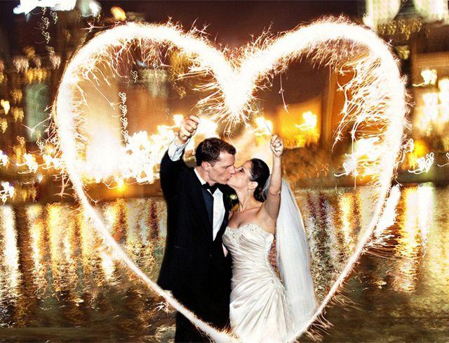 Heart Shaped Sparklers - Mon Cheri Bridals