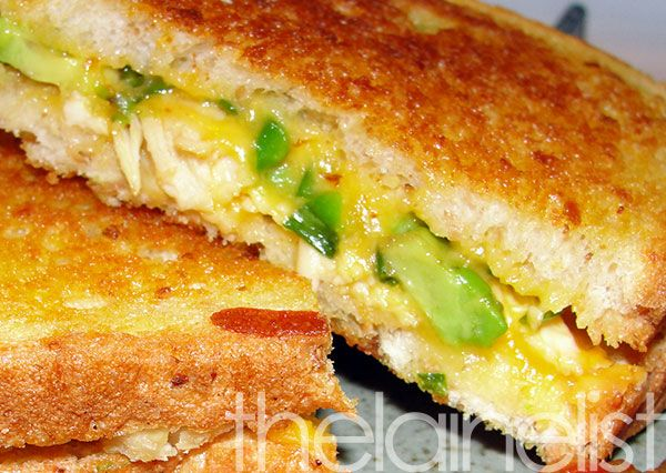 Grilled Cheese with Avocado, Chicken, and Cheddar, from The Laine List ...