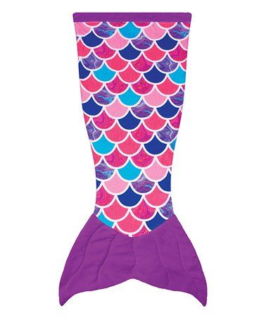 Loving this Purple & Pink Mermaid Tail Blanket on #zulily! #zulilyfinds