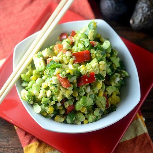 Edamame Avocado Salad | salad | Pinterest | Edamame, Salads and ...